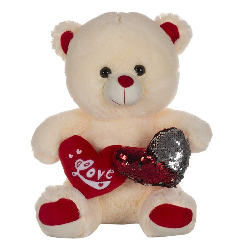 Dhoom Soft Toys Teddy Bear with Twin Heart 40 CM-Cream