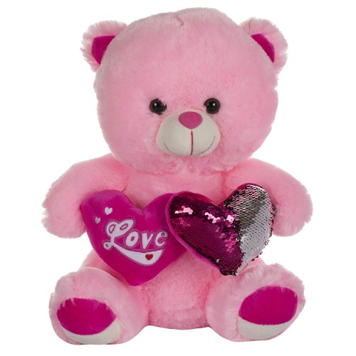 Dhoom Soft Toys Teddy Bear with Twin Heart 40 CM-Pink