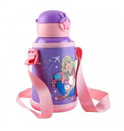 Buy My Baby Excels Barbie Steel Inner Water Bottle 520 ml Online in India