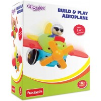 Giggles Build & Play Aeroplane (Multicolor)