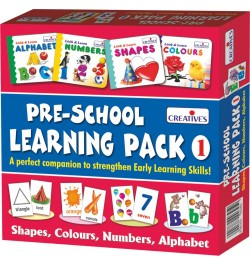 Buy Creative's Pre-School Learning Pack 1 Shapes, Colours, Numbers and Alphabet (Multi-Color) Online in India