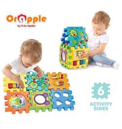 Orapple Toys by R for Rabbit - Little Master Activity Cube - Learning Center for Kids