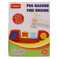 Giggles Peg Basher Fire Engine - Red & Blue