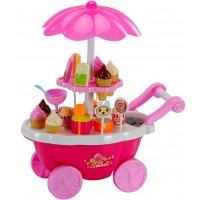 Ice Cream Kitchen Play Cart Kitchen Set Toy With Lights And Music -Small