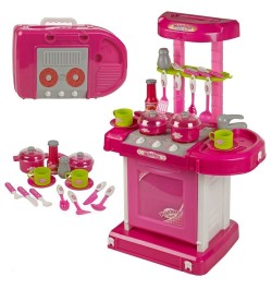 Luxury Kitchen Set - Battery Operated With Lights, Sound and Carry Case