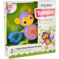 Tomy Grip and Grab Musical Monkey Multicolor
