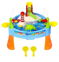 Water Paradise Fishing Game Set (Battery Operated) with Electric Rotation and Lights and Sounds for Kids,Multi Color- 23 Pcs