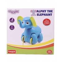 Giggles Alphy The Elephant Pull Along Toy - Blue