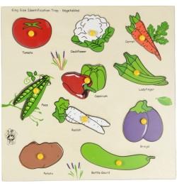 Skillofun Wooden King Size Identification Tray - Vegetables