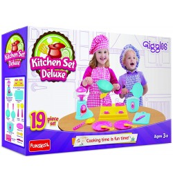 Giggles Kitchen Set Deluxe Multicolor - 19 Pieces