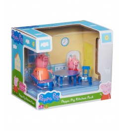 Planet Superheroes Kitchen Playset with Peppa Pig and Mamma Figures