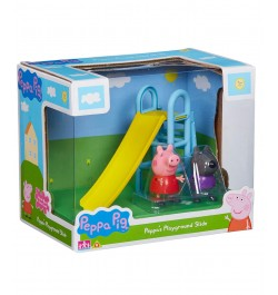 Planet Superheroes Peppa Pig's Playground Slide with Peppa Pig and Danny Dog Figures
