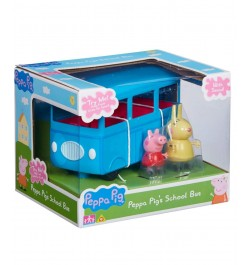 Planet Superheroes Peppa Pig's School Bus with Peppa Pig and Mrs Rabbit Figures